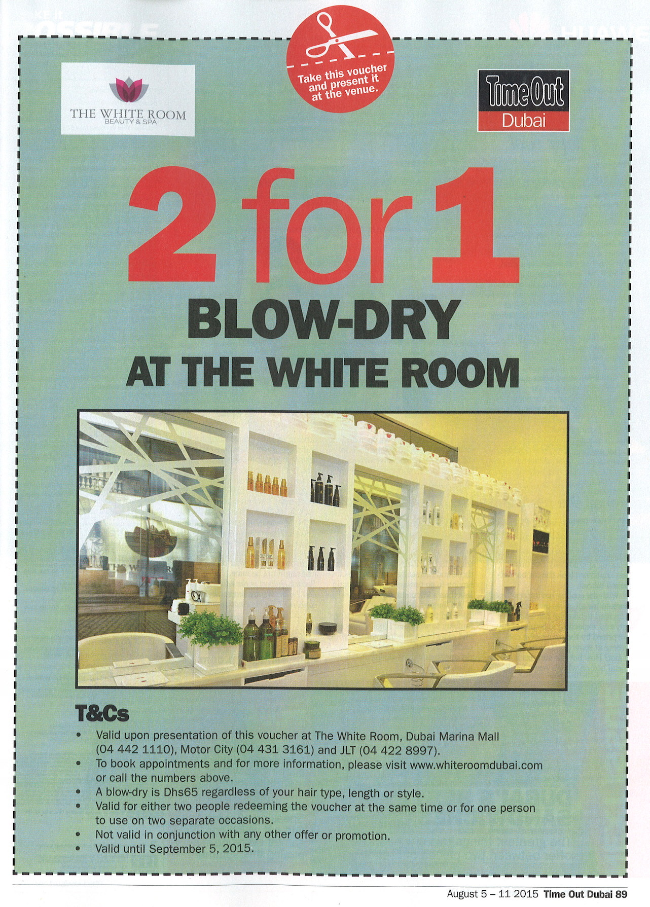 Time Out Dubai - The White Room - 5-11 August 2015